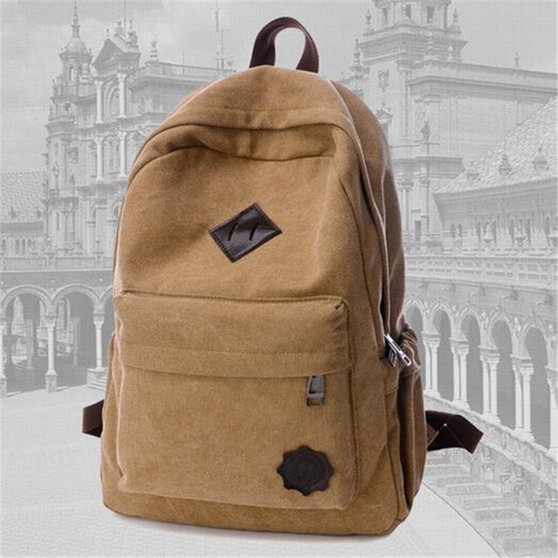 New 2016 female mochila bolsas women ethnic brief canvas backpack preppy style school Lady girl student
