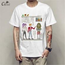 45823af90 Cncool 2018 Nova Duas Pessoas e Um Faraó Imprimiram a Camisa de Manga Curta  T-shirt do Homem Anima Streetwear camiseta Primavera.