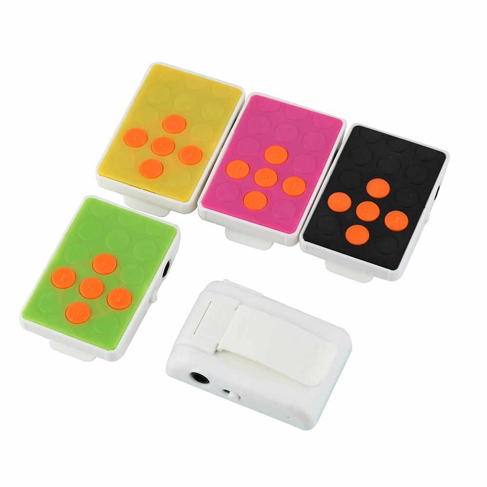 2019 New Clip USB Mini Mp3 Âm Nhạc Phương Tiện Truyền Thông Máy Nghe Nhạc Hỗ Trợ 32 GB Micro Thẻ TF & Tai Nghe YX18