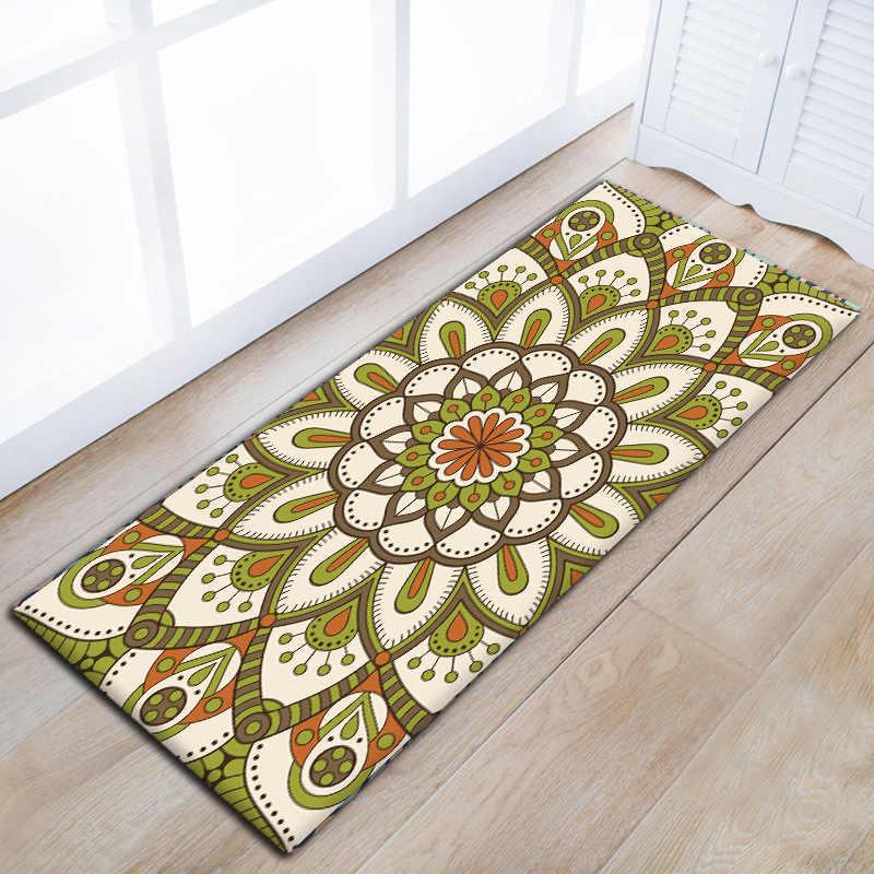 Zeegle รูปแบบคลาสสิก Corridor Mat Asorbent ในครัวเรือนยาวห้องครัวพรมลื่นพรมสำหรับห้องนอนข้างเตียง