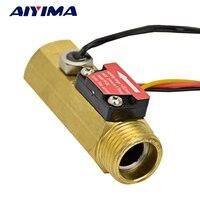 G1 2 Copper Water Flow Sensor Hall Sensor Water Control 1 25 L Min DN15 Port