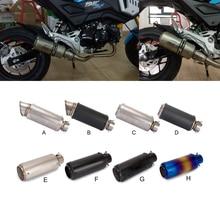 Motorcycle Exhuaust Muffler Pipe carbon fiber 51mm  stainless steel For Yamaha FZ1 FAZER MT-07/FZ-07 XV 950 Racer