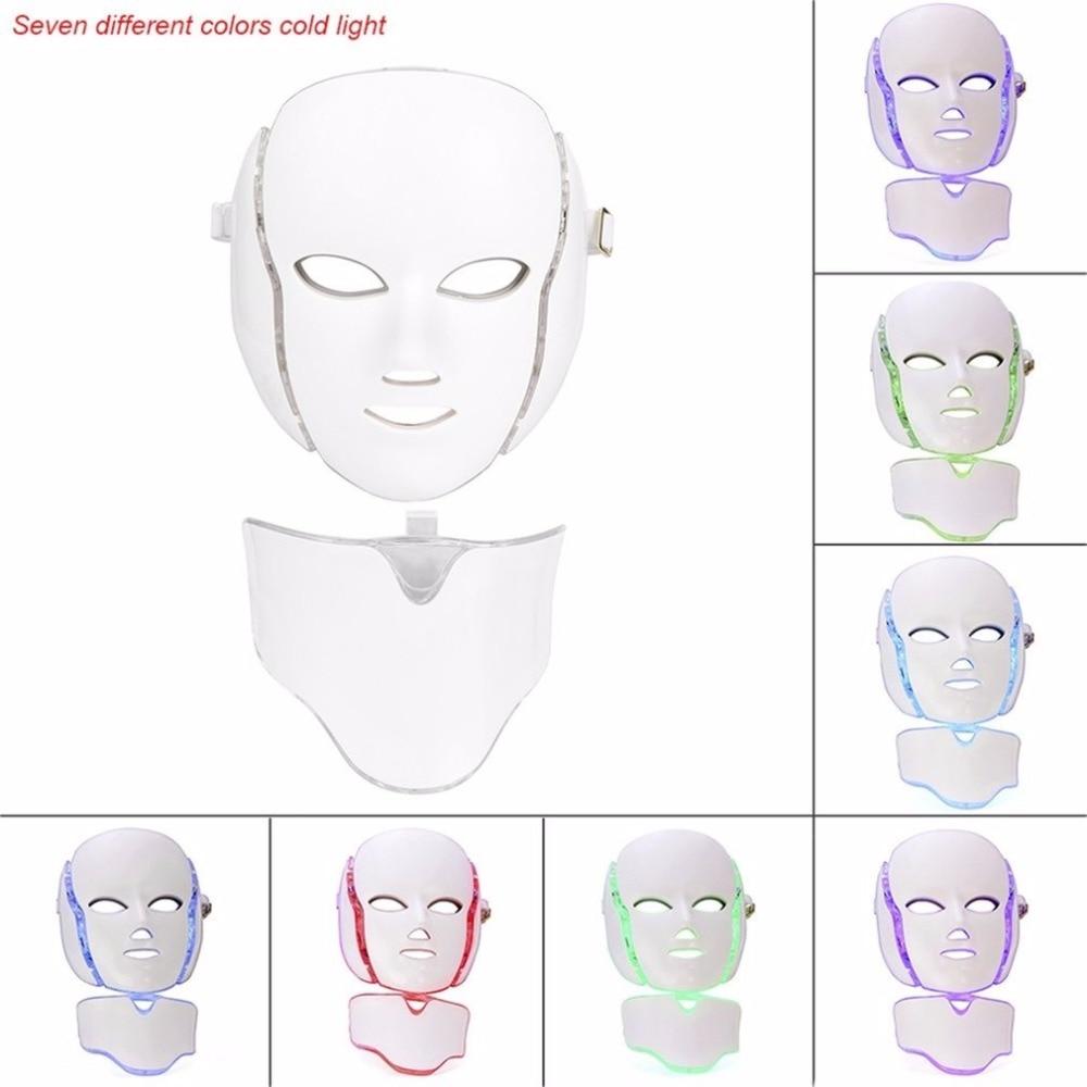 Die Beste 7 Farbe LED lichttherapie Gesichtsmaske Sitzung Anti Aging ...