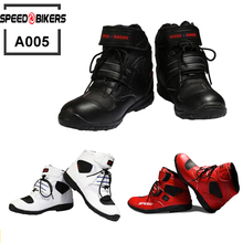 Pro biker SPEED Motorcycle Boots Moto Racing Motocross Motorbike Shoes A005 Black/White/Red size 38-45