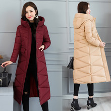 Koreaanse Jassen vrouw winter uitloper 2018 lange warme thicke down parka fashion slim jas vrouwen winter hooded solid jasje(China)
