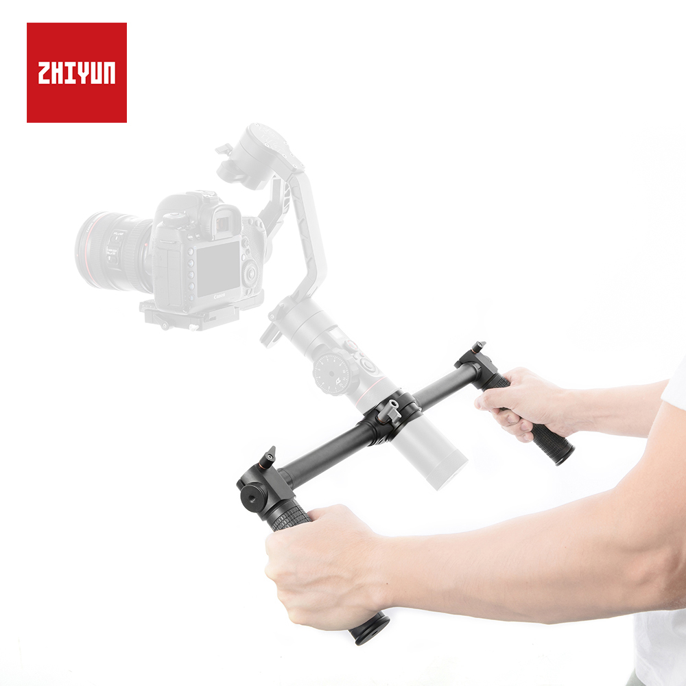 ZHIYUN Original Crane 2 Dual Handle Extended Handheld with 1 4 Screw Hole for Mounting Accessories