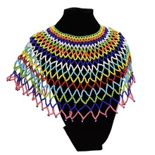 цена на Amazing African Cleopatra Necklace  Women Statement Bohemian Resin Beaded Choker Necklaces  Long Collier Ethnique Boheme Jewelry