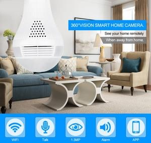 Image 2 - MISECU 5.0MP 3.0MP 1.3MP 360 degree VR Audio 128GB slot Wireless IP Camera Bulb Wi fi FishEye Home Security WiFi Camera security