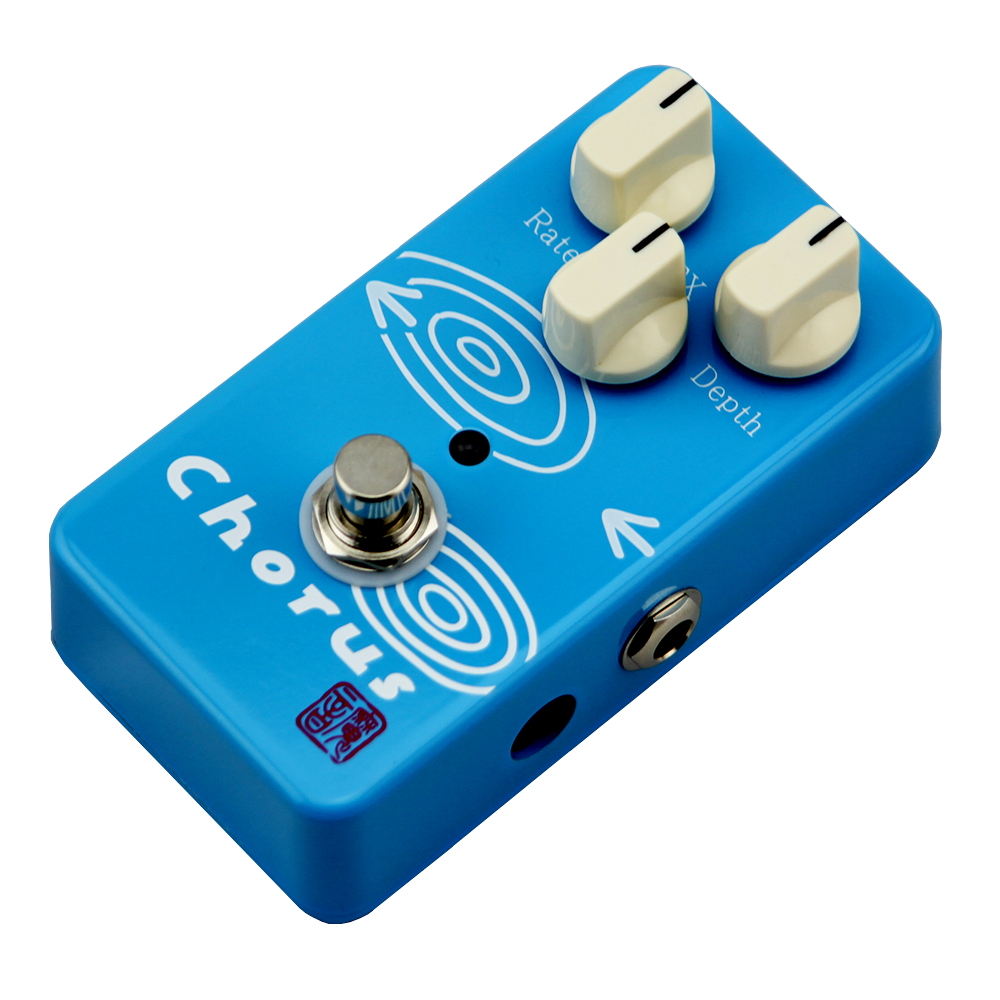 ФОТО Moen Chorus Effect Pedal Rate Depth FX Control Electric Guitar Effects AM-CH True Bypass