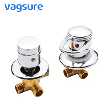 Vagsure 1set 2/3/4/5 Ways Outlet Brass Screw Thread Separate Type Ceramic Mixing Valve Core Shower Mixer Faucet Cabin Room