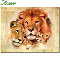 Lion Family Diamond Painting Cross Stitch Full Diamond Embroidery Europe Home Decoration Square Drill Animal Series