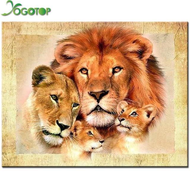 Вышивка крестом лев бесплатно
