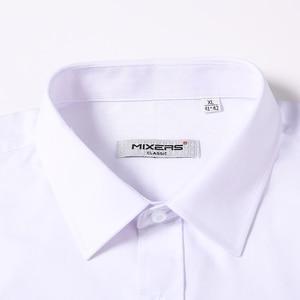 Image 2 - כניסות חדשות 2018 גברים של ארוך שרוול שמלת חולצות עסקים מקרית לבן חולצה גברים קלאסי Fit חתונה חולצה Camisa Masculina