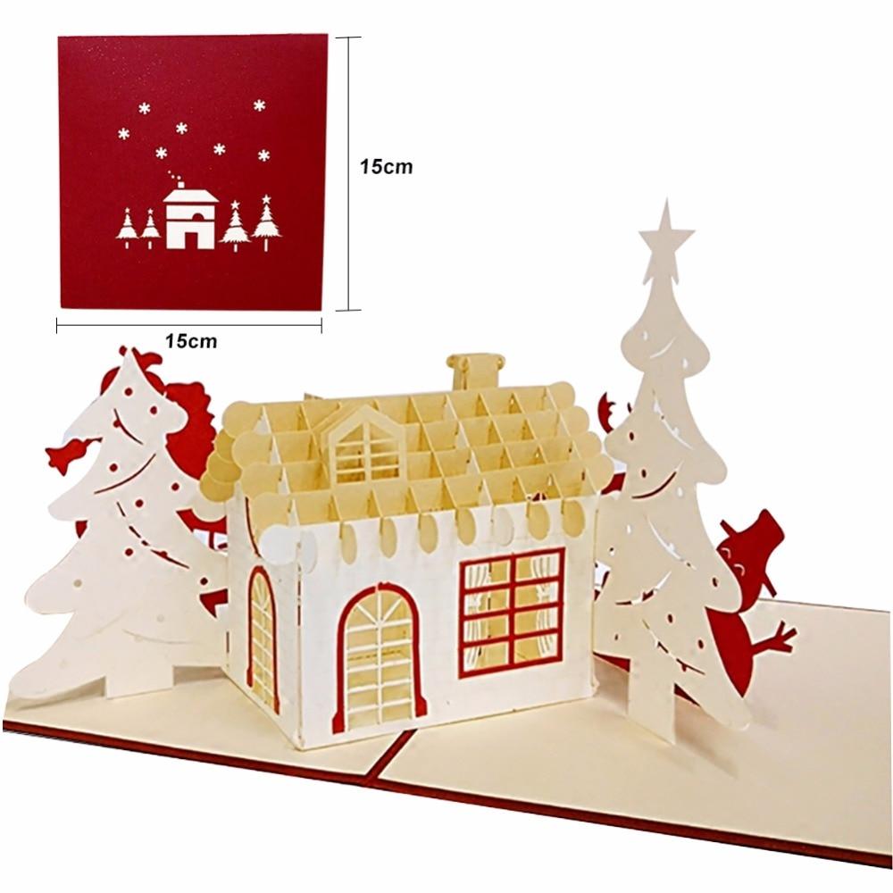 12 Stil 3D Weihnachtskarten Gruß Büttenpapier Karte Personalisierte ...
