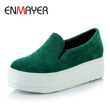 ENMAYER New Women Flats Casual Ladies Shoes Sexy Footwear Fashion Lady Female Platform Sale Size 34-43