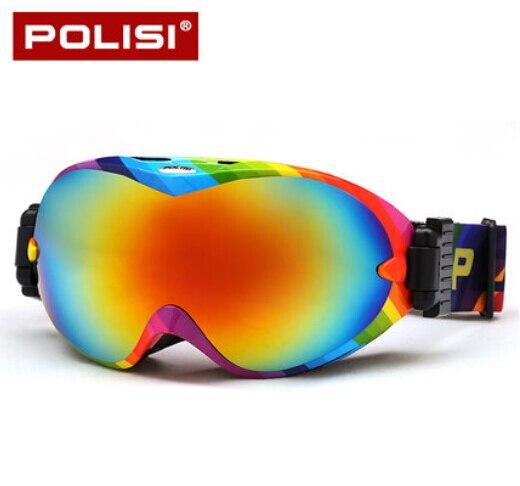 Polisi hombres mujeres nieve gafas de esquí gafas de protección uv de lentes de