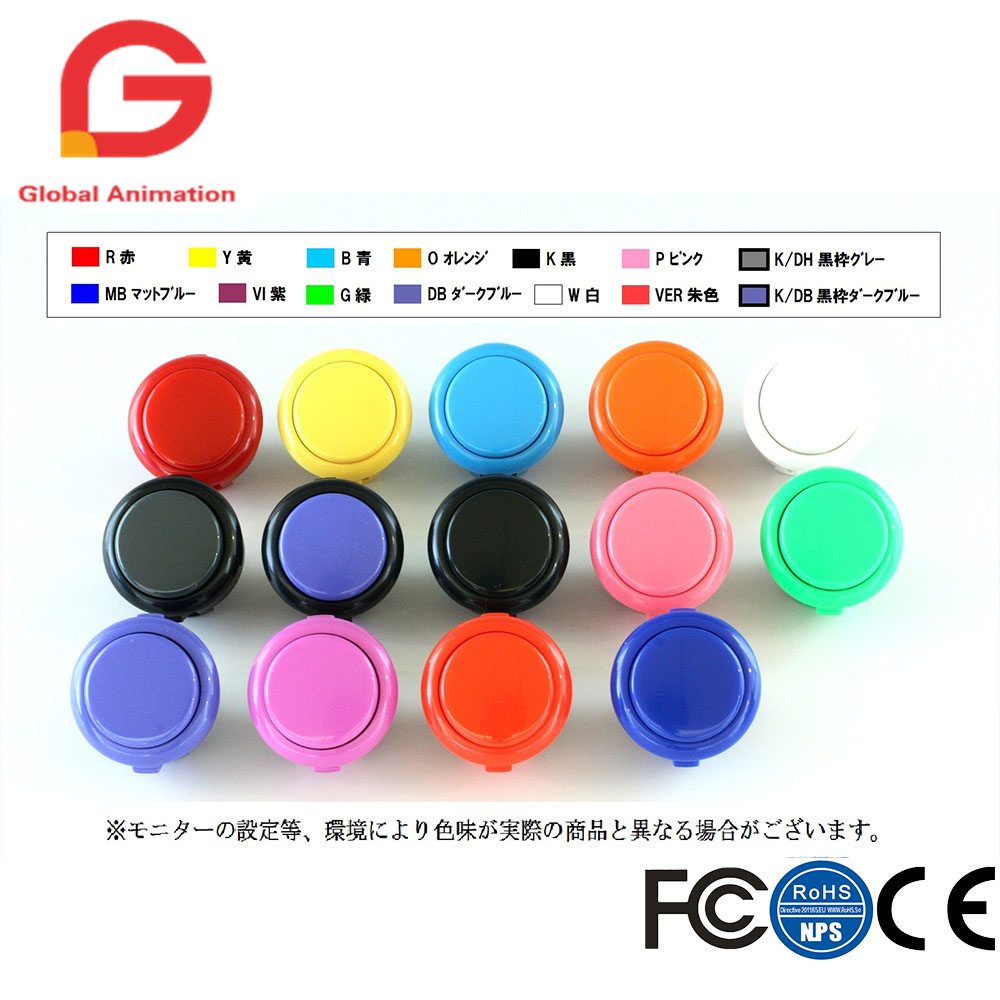 50 Piece Japan Sanwa Original OBSF-30 Push Button 30mm Buttons For Arcade Joystick & Video Game Console Raspberry Pi