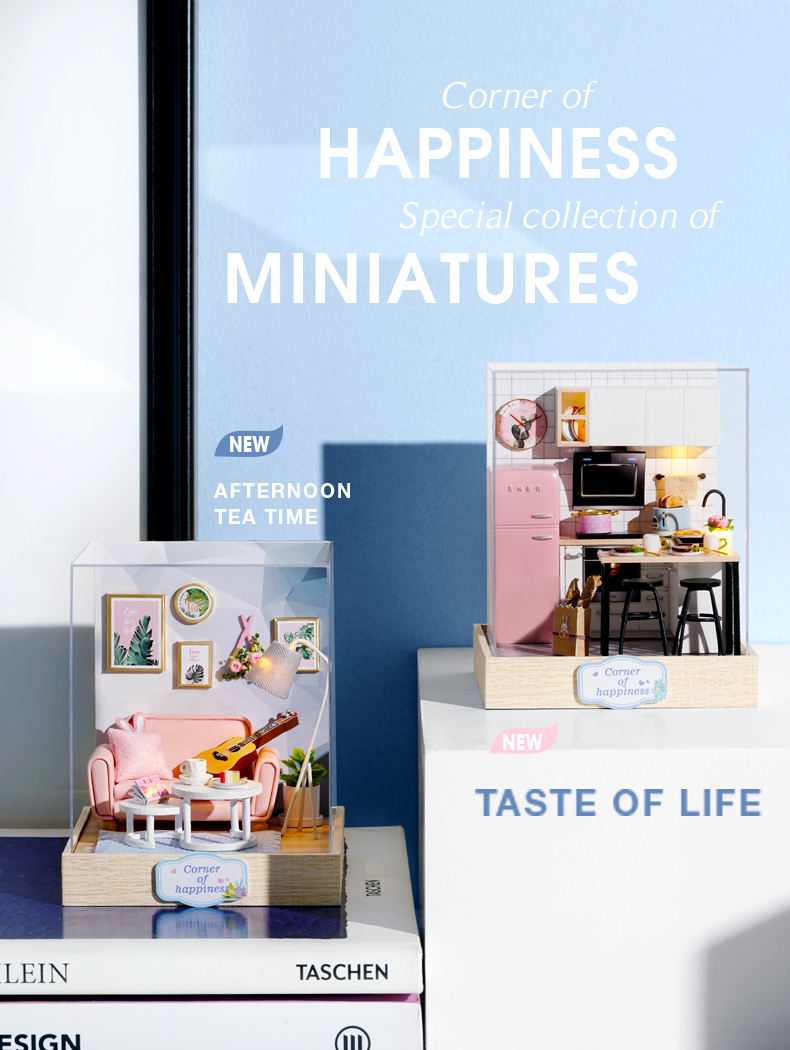 Corner of Happiness DIY 3D Miniature Room Collection