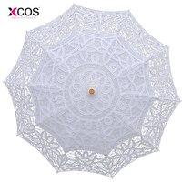 Occhiali da Sole di modo Ricami In Pizzo Ombrello Parasole Ombrello Sposa Ombrello Bianco Da Sposa Ombrelle Dentelle Parapluie Mariage
