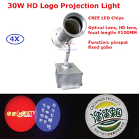 Factory Price 4XLot New HD Logo Projection Light High Quality 30W NON Water proof Logo Projection Light AC110 220V Free Ship