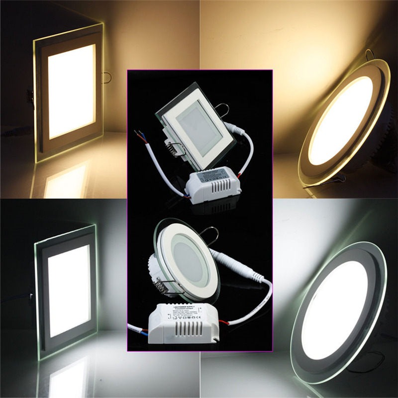 Free Shipping 18w Round Square Glass Led Downlight