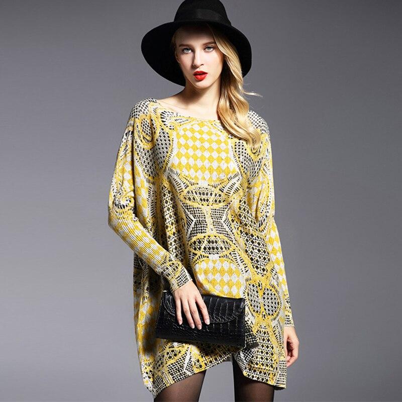 Jielur 2019 Winter New Yellow Übergroßen Pullover Damenmode Lose - Damenbekleidung - Foto 2