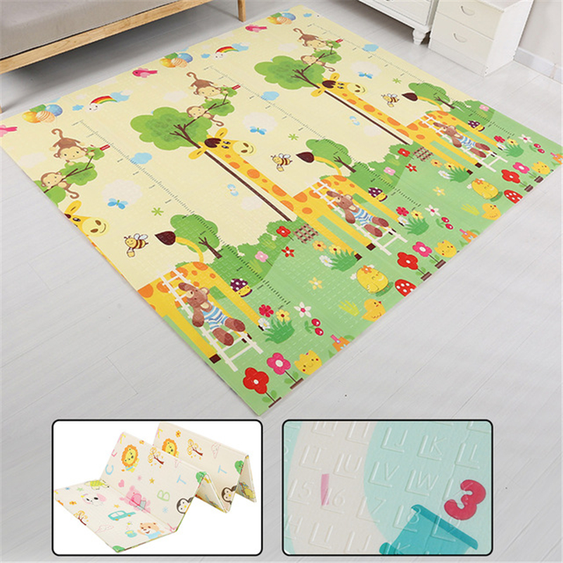 цена на Fashion Children's Rug Play Mats Playcloth Cartoon Pattern Carpet In The Nursery Baby Kids Game Crawl Mat Outdoor Camping Rugs