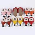Cute Fox Genuine Leather Baby Boys Girls Winter First Walker Shoes,Soft Bebe Leather Infant Moccasin Skid-Proof Kids Shoes 0-24M