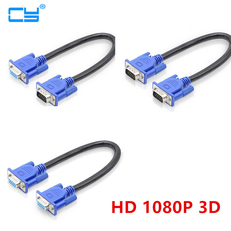 30cm 50cm HD15Pin VGA D-Sub Short Video Cable Cord Male to Male M/M Male to Female and Female to Female for Monitor PC30cm 50cm HD15Pin VGA D-Sub Short Video Cable Cord Male to Male M/M Male to Female and Female to Female for Monitor PC