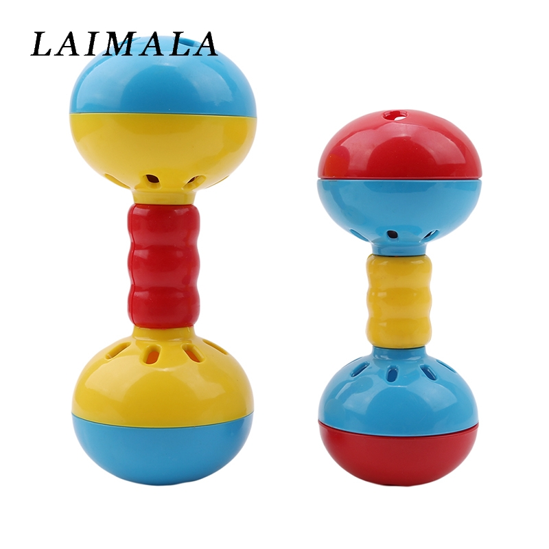 Baby Rattle Mobiles Educational Toys Baby-bed Mobile Bed Bell Develop Intelligence Plastic Hand Bell  Baby Newborn Toy Rattle