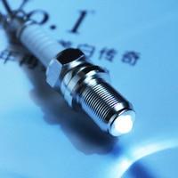 Wholesale 10PCS Creative Hot Sale LED Light Spark Plug Auto Parts Keychain Key Chain Ring Key