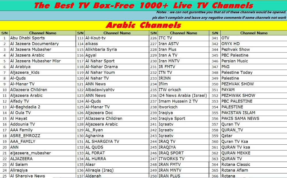 Free LIVE TV Channels 1