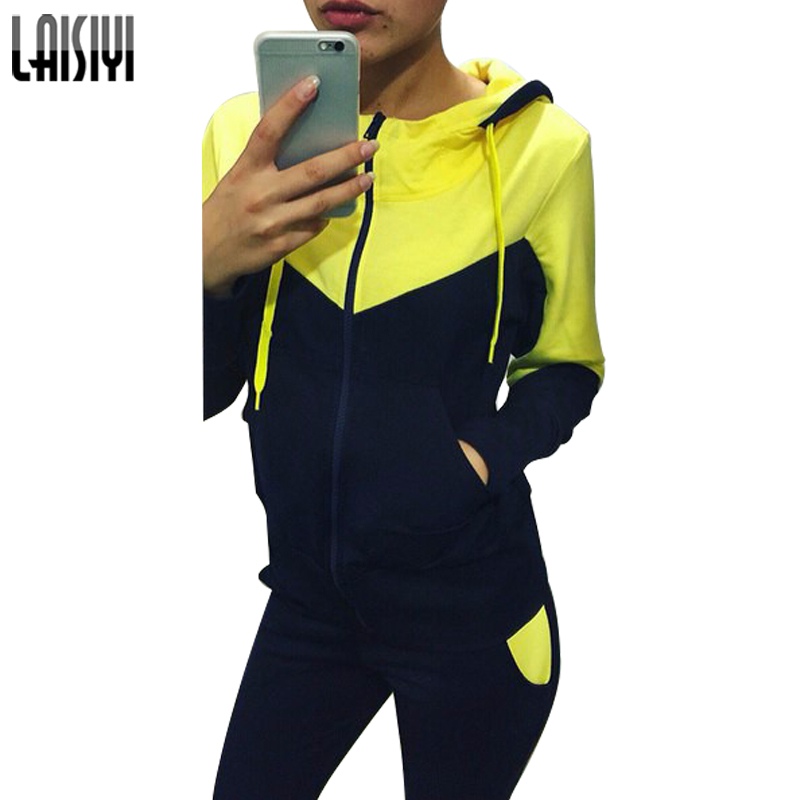 LAISIYI Suit Casual Fitness Hooded Women Sets Plus Size