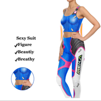 Hot Game Watch Over D VA Cosplay Costume Kits Games Tops And Pants 3d Print Leggings