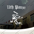 11th Panzer Division Ghost WW2 Tanks German Panther Army Car Truck Decal Bumper Sticker Windows Vinyl Die cut