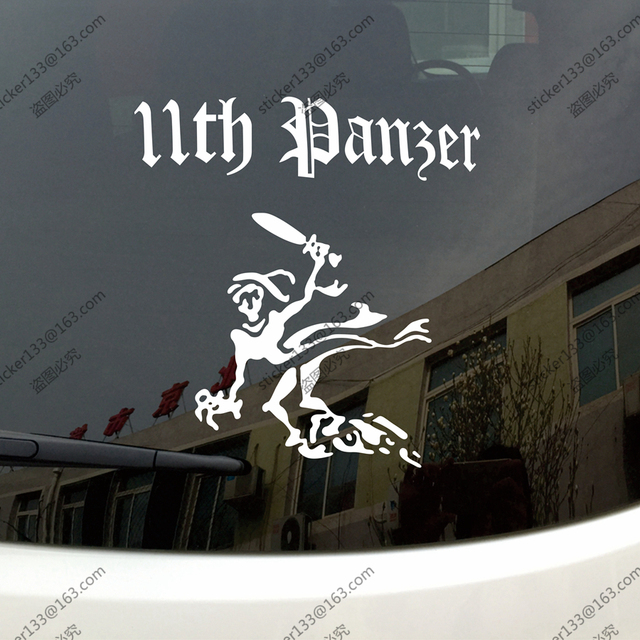 11th panzer division ghost ww2 tanks german panther army car truck decal bumper sticker windows vinyl