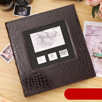 New Photo Album Leather Cover 6 Inch Plastic 6 Inch 600 Pockets Large-capacity Leather Family Children Baby Growth Insert Album