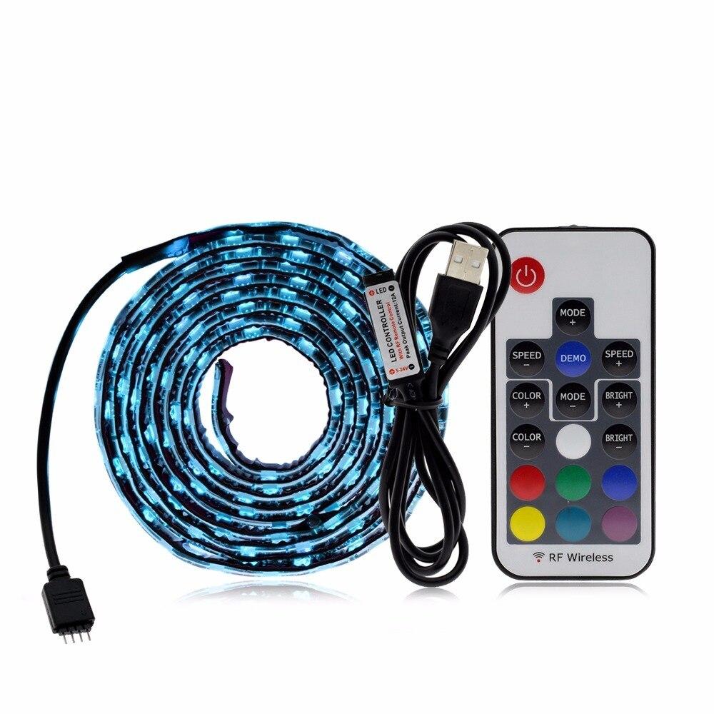 RGB USB LED Strip Light DIY 5V LED Strip Color Changing String Tape ...