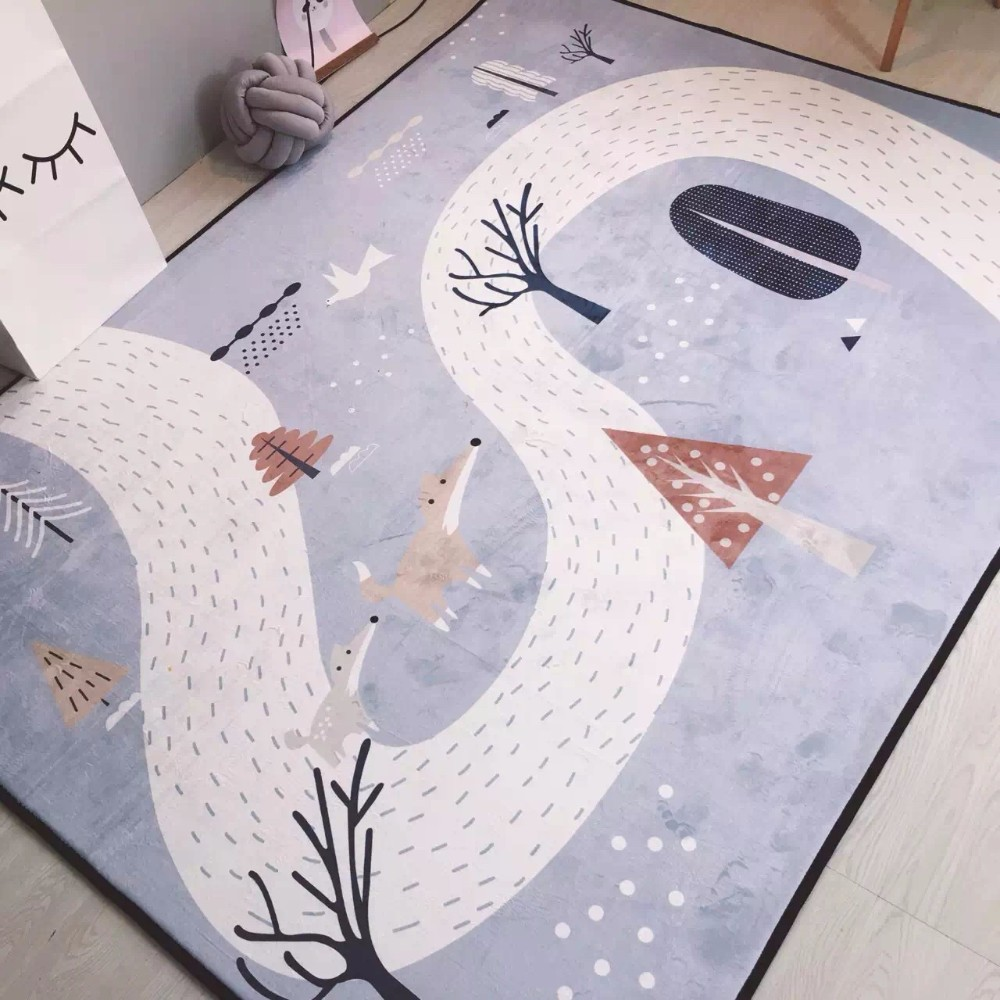 2017 New Crystal Cashmere Carpets For Living Room Cartoon Children Bedroom Rugs And Carpets Coffee Table Area Rug Kids Play Mat
