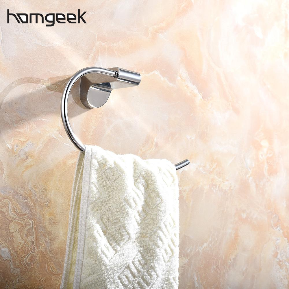 Homgeek Wall Mounted Chromed Stainless Steel Towel Toilet Paper ...