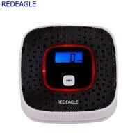 REDEAGLE 2IN1 LCD Smoke Gas Tester Detector CO Carbon Monoxide Gas Alarm Sensor Poisoning