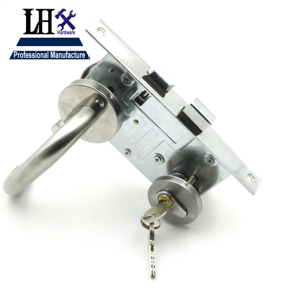 Lhx Chj26 Stainless Door Handle Lock For Interior Door With 3 Keys In Locks From Home