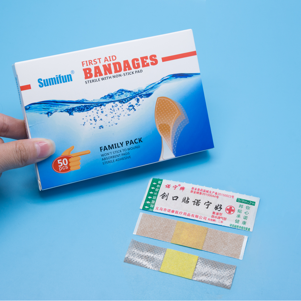 50pcs/box Band-Aid Brand Flexible Fabric Adhesive Bandages For Minor Wound Care Waterproof Breathable Bandage Adhesive 2