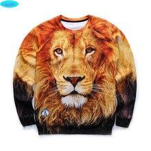 12-18years big kids brand sweatshirt boys youth fashion lion king 3D printed hoodies girls jogger sportwear teens W25