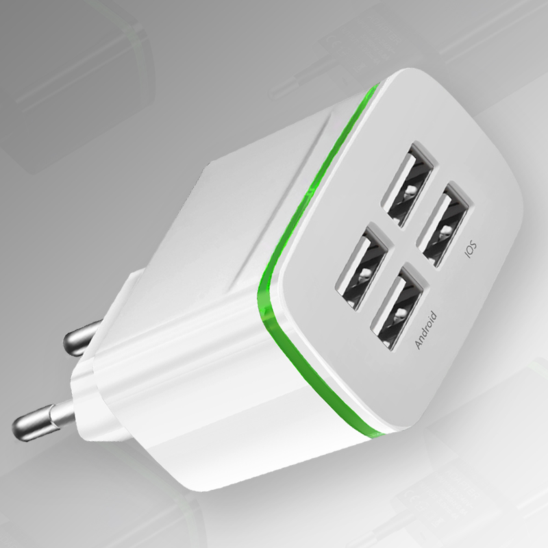Adapter Usb-Charger Eu-Plug Wall iPad Universal Travel Xiaomi iPhone Huawei Samsung 5v 4a