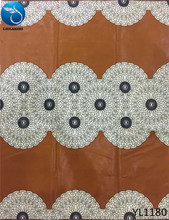 LIULANZHI african brown fabric real wax men clothes cotton fashion picture accessories 6yards YL1172-1185