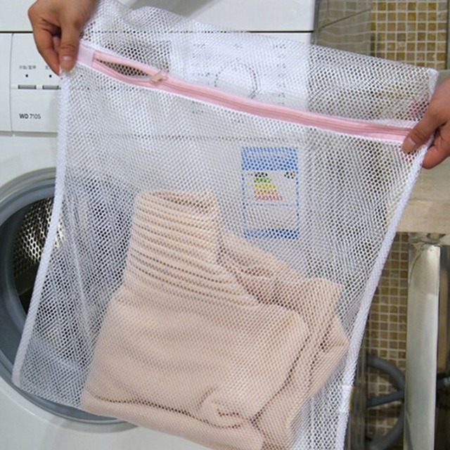 2 Size Zippered Mesh Laundry Wash Bags Delicates Bra Socks Underwear Washing Foldable Machine Clothes