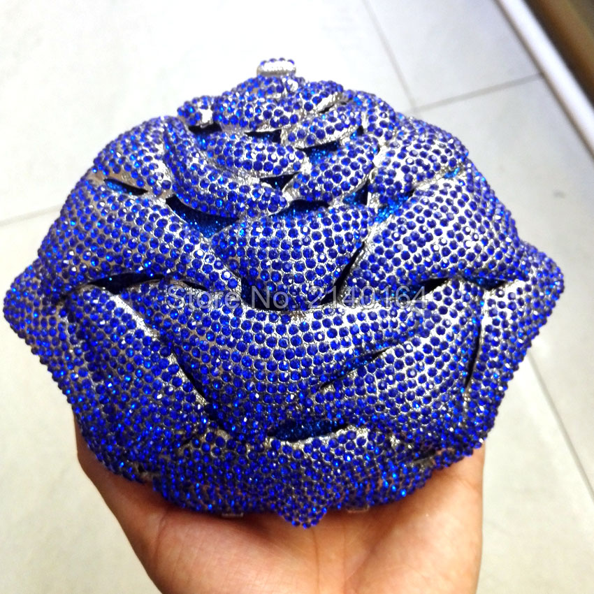 Luxury Crystal Wedding Bags Women Day Clutches Evening Handbags Sisters Party Purse Doubleside Diamonds Gold Chain blue beaded women evening bags diamonds finger rings small purse day clutches handbags silver gold black pearl wedding bags