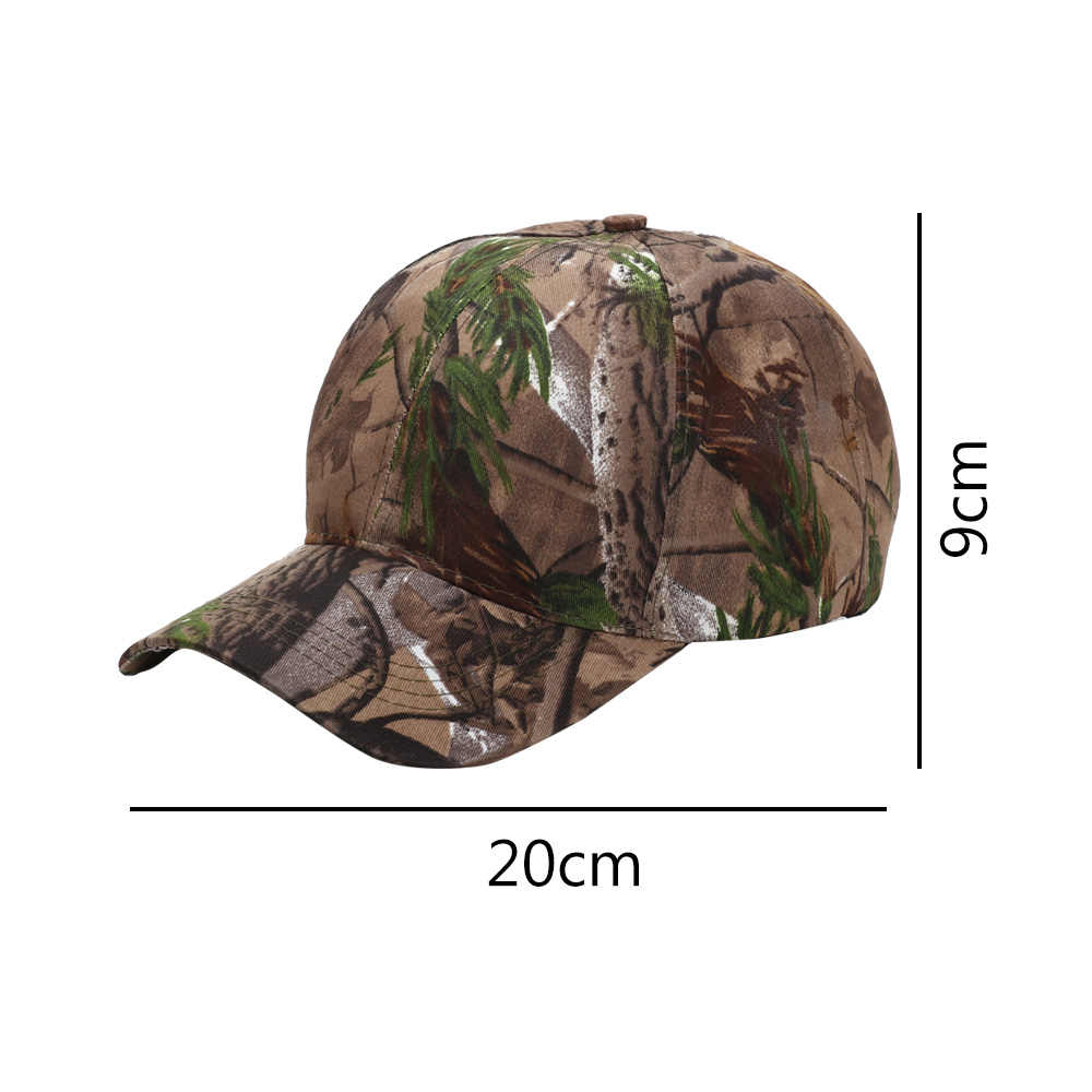 1Pcs יוניסקס הסוואה מתכוונן כובע Camo בייסבול ציד צבא ירוק דיג כובע חיצוני דיג אביזרים