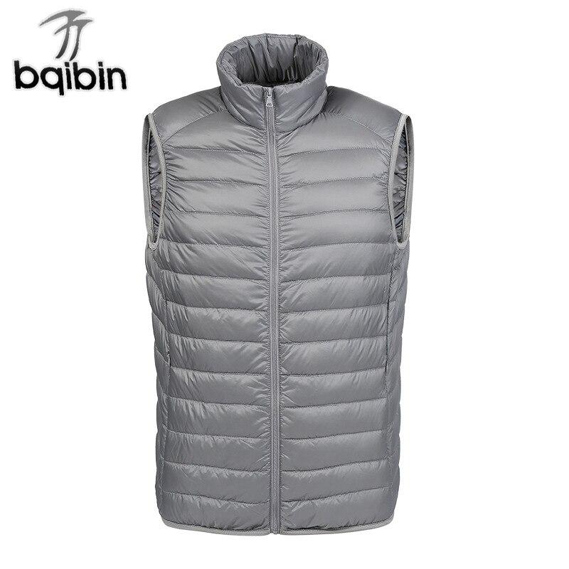 bfc539952c1 US $20.52 44% OFF|New Winter Warm Vest Men Breathable Sleeveless Jacket  Autumn Ultralight Windproof White Duck Down Vest Male Slim Coat  Waistcoat-in ...